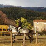 Riding through Montseny